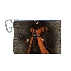 Count Vlad Dracula Canvas Cosmetic Bag (m) by Valentinaart