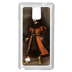Count Vlad Dracula Samsung Galaxy Note 4 Case (white) by Valentinaart