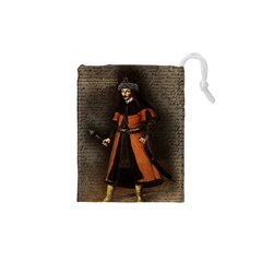 Count Vlad Dracula Drawstring Pouches (xs)  by Valentinaart