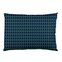 Clovers On Dark Blue Pillow Case by PhotoNOLA