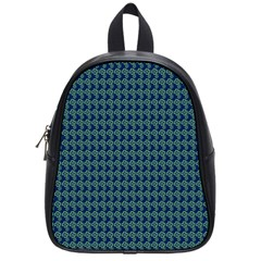 Clovers On Dark Blue School Bags (small)  by PhotoNOLA