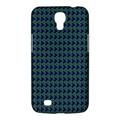 Clovers On Dark Blue Samsung Galaxy Mega 6 3  I9200 Hardshell Case by PhotoNOLA