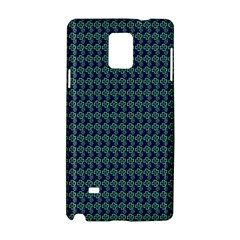 Clovers On Dark Blue Samsung Galaxy Note 4 Hardshell Case by PhotoNOLA