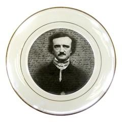 Edgar Allan Poe  Porcelain Plates by Valentinaart