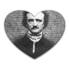Edgar Allan Poe  Heart Mousepads by Valentinaart