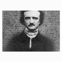 Edgar Allan Poe  Large Glasses Cloth by Valentinaart
