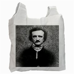 Edgar Allan Poe  Recycle Bag (two Side)  by Valentinaart