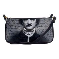 Edgar Allan Poe  Shoulder Clutch Bags by Valentinaart