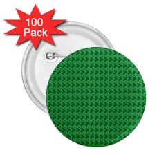 Clovers On Dark Green 2 25  Buttons (100 Pack)  by PhotoNOLA