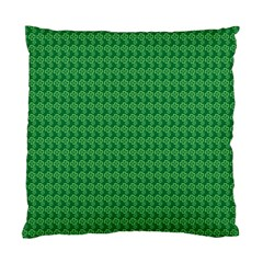 Clovers On Dark Green Standard Cushion Case (two Sides) by PhotoNOLA