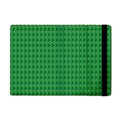 Clovers On Dark Green Apple Ipad Mini Flip Case by PhotoNOLA