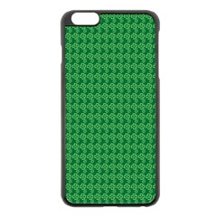 Clovers On Dark Green Apple Iphone 6 Plus/6s Plus Black Enamel Case by PhotoNOLA