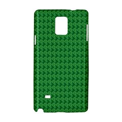 Clovers On Dark Green Samsung Galaxy Note 4 Hardshell Case by PhotoNOLA