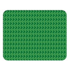 Clovers On Dark Green Double Sided Flano Blanket (large)  by PhotoNOLA