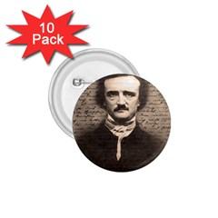 Edgar Allan Poe  1 75  Buttons (10 Pack) by Valentinaart