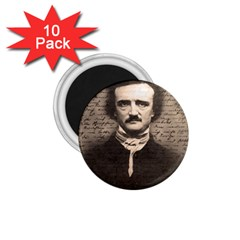 Edgar Allan Poe  1 75  Magnets (10 Pack)  by Valentinaart