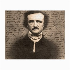Edgar Allan Poe  Small Glasses Cloth by Valentinaart