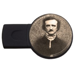Edgar Allan Poe  Usb Flash Drive Round (4 Gb) by Valentinaart