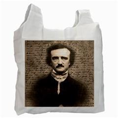 Edgar Allan Poe  Recycle Bag (two Side)  by Valentinaart