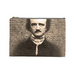 Edgar Allan Poe  Cosmetic Bag (large)  by Valentinaart