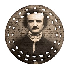 Edgar Allan Poe  Ornament (round Filigree) by Valentinaart