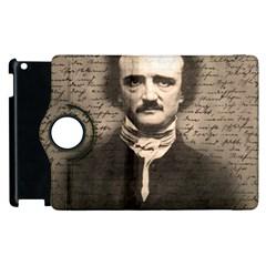 Edgar Allan Poe  Apple Ipad 2 Flip 360 Case by Valentinaart