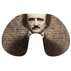 Edgar Allan Poe  Travel Neck Pillows by Valentinaart