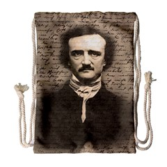Edgar Allan Poe  Drawstring Bag (large) by Valentinaart