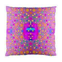 Colors And Wonderful Flowers On A Meadow Standard Cushion Case (two Sides) by pepitasart