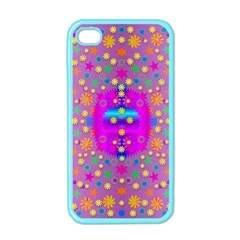 Colors And Wonderful Flowers On A Meadow Apple Iphone 4 Case (color) by pepitasart