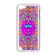 Colors And Wonderful Flowers On A Meadow Apple Ipod Touch 5 Case (white) by pepitasart