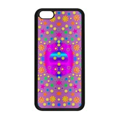 Colors And Wonderful Flowers On A Meadow Apple Iphone 5c Seamless Case (black) by pepitasart