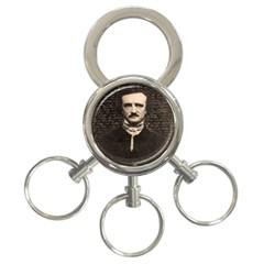 Edgar Allan Poe  3 Ring Key Chains by Valentinaart