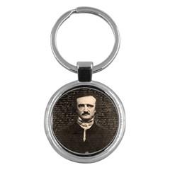 Edgar Allan Poe  Key Chains (round)  by Valentinaart