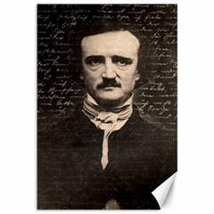 Edgar Allan Poe  Canvas 12  X 18   by Valentinaart