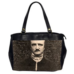 Edgar Allan Poe  Office Handbags (2 Sides)  by Valentinaart