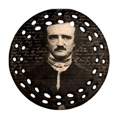 Edgar Allan Poe  Round Filigree Ornament (two Sides) by Valentinaart
