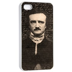 Edgar Allan Poe  Apple Iphone 4/4s Seamless Case (white) by Valentinaart