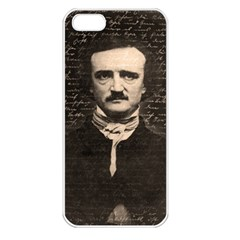 Edgar Allan Poe  Apple Iphone 5 Seamless Case (white) by Valentinaart