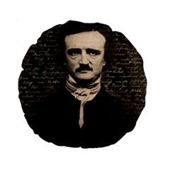 Edgar Allan Poe  Standard 15  Premium Round Cushions by Valentinaart