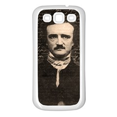 Edgar Allan Poe  Samsung Galaxy S3 Back Case (white) by Valentinaart