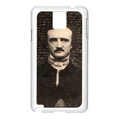 Edgar Allan Poe  Samsung Galaxy Note 3 N9005 Case (white) by Valentinaart