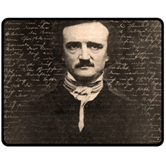 Edgar Allan Poe  Double Sided Fleece Blanket (medium)  by Valentinaart
