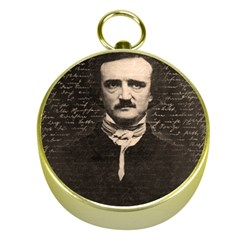 Edgar Allan Poe  Gold Compasses by Valentinaart