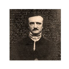 Edgar Allan Poe  Small Satin Scarf (square) by Valentinaart