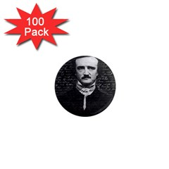 Edgar Allan Poe  1  Mini Magnets (100 Pack)  by Valentinaart