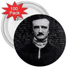Edgar Allan Poe  3  Buttons (100 Pack)  by Valentinaart