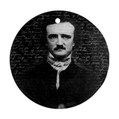 Edgar Allan Poe  Round Ornament (two Sides) by Valentinaart