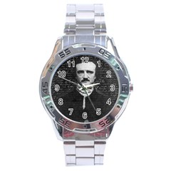 Edgar Allan Poe  Stainless Steel Analogue Watch by Valentinaart