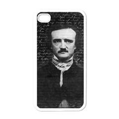 Edgar Allan Poe  Apple Iphone 4 Case (white) by Valentinaart